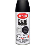 Krylon Dual Paint & Primer Aerosol 12 Oz. Flat Black - K08831001 - Pkg Qty 6