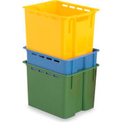 "Schaefer Stack & Nest Container KS1 - 16""L x 12""W x 10-1/2""H - Yellow"
