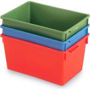 "Schaefer Stack & Nest Container KS10 - 20""L x 13-3/4""W x 10""H - Blue"