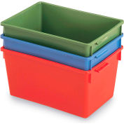 """Schaefer Stack & Nest Container KS10 - 20""""L x 13-3/4""""W x 10""""H - Green"""