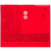 Ultracolor Expandable Poly String Tie Envelopes, Side Load, Red, 5/Pack