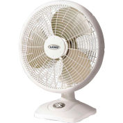 "Lasko 2506 16"" Dia. Oscillating Performance Table Fan, 3-Speed, 110V, White"