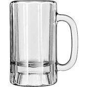 Libbey Glass 5018 - Beer Glass, Mug 14 Oz., Paneled Clear, 12 Pack