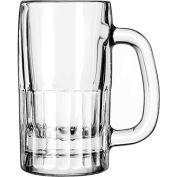 Libbey Glass 5362 - Glass Mug Beer 10 Oz., Clear, 12 Pack