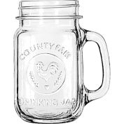 Libbey Glass 97085 - Glass County Fair Drinking Jar 16.5 Oz., 12 Pack