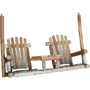 "Lakeland Mills Tete-A-Tete Porch Swing, 24"" W - Unfinished/Natural"