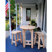Lakeland Mills Balcony Table W/2 Curved Benches