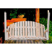 Lakeland Mills 5 Ft Country Porch Swing - Unfinished/Natural