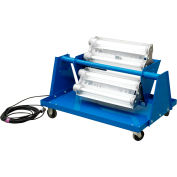 Larson Electronics EPLC-24-4L-LED-HV-5600K, Explosion Proof LED Light Cart - 4X 2ft Lamps