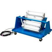 Larson Electronics EPLC-24-4L-LED-HV-5600K, Explosion Proof LED Light Cart - 4X 2ft Lamps