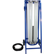 Larson Electronics EPLCD-48-216-50KT5HO, Expl Proof Paint Spray Booth Light on Dolly Cart w/Wheels