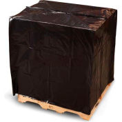 """Pallet Top Covers with UVI/UVA, 51"""" x 49"""" x 97"""" 3 Mil Black, 30 per Roll"""