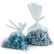 "Layflat Poly Bags, 26""W x 26""L 1 Mil Clear, 1000/CASE"