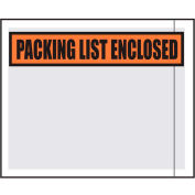 Packing List Envelopes, 4.5X5.5, 1000 per Case, White Back/Clear Front w/Print