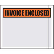 "Packing List Envelopes - ""Invoice Inclosed"" 4-1/2"" x 5-1/2"" Clear Face - 1000/Case"