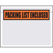 Packing List Envelopes, 7X5.5, 1000 per Case, White Back/Clear Front w/Print