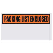 "Packing List Envelopes - ""Packing List Enclosed"" 5-1/2"" x 10"" Clear Face - 1000/Case"