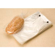 """Clear Wicketed Bread Bags 1.25 mil, 4"""" Bottom Gusset, 12X19+4BG, 1000 per Case, Clear"""