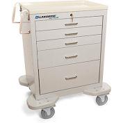 Lakeside® C-524-K-1G Classic Medical Procedure Cart, 5 Drawer, Gray, Key Lock