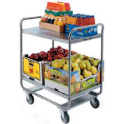 Lakeside® 243 Tubular Stainless 2 Shelf Utility Cart 36 x 22 x 40-5/8 500 Lb Cap