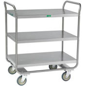 Lakeside® 244 Tubular Stainless 3 Shelf Utility Cart 36 x 22 x 40-5/8 500 Lb Cap