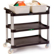 Lakeside® 2512 Plastic Utility Cart 500 Lb. Capacity - Charcoal