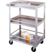 Lakeside® 316 Guard Rail Stainless Steel Cart 27-1/2 x 16-1/4 x 33-3/8 300 Lb Cap