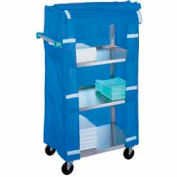 Lakeside® 332 Stainless Steel Linen Service Cart with Nylon Cover 300 Lb. Cap.