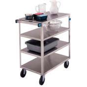 Lakeside® 353 Medium Duty Stainless Steel 4 Flush Shelf Cart 500 Lb Cap