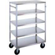 Lakeside® 355 Medium Duty Stainless Steel 5 Flush Shelf Cart 500 Lb Cap