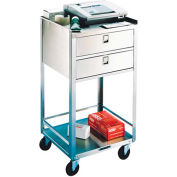 Lakeside® 358 Stainless Steel Equipment Stand, 2 Shelves, 2 Drawers, 300 Lb. Cap.