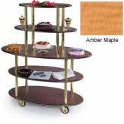 Geneva Lakeside Oval Dessert Display Cart w/ 5 Open Shelves, 37212-10
