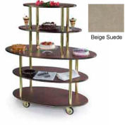 Geneva Lakeside Oval Dessert Display Cart w/ 5 Open Shelves, 37212-09