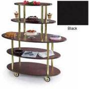 Geneva Lakeside Oval Dessert Display Cart w/ 5 Open Shelves, 37212-Black