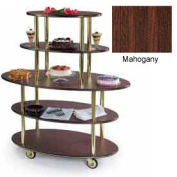 Geneva Lakeside Oval Dessert Display Cart w/ 5 Open Shelves, 37212-11
