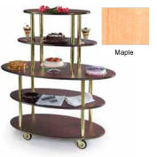 Geneva Lakeside Rounded Oval Dessert Display Cart w/ 5 Open Shelves, 37212-03