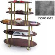 Geneva Lakeside Oval Dessert Display Cart w/ 5 Open Shelves, 37212-07