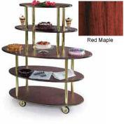 Geneva Lakeside Oval Dessert Display Cart w/ 5 Open Shelves, 37212-04
