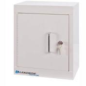 Lakeside® Narcotic Cabinet with 1 Adjustable Shelf, Double Door/Double Lock, Beige