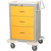 Lakeside® C-330-K-1G Classic Medical Procedure Cart, Gray, 3 Drawer, Key Lock