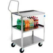 Lakeside® 4322 Handler Stainless Steel Utility Cart 31-1/4 x 18-3/8 x 35 300 Lb Cap