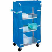 Lakeside® 442 Stainless Steel Linen Service Cart with Cover, 500 lbs. Capacity