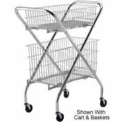 """Optional 6"""" Wire Basket (4652) for Lakeside® Wire Cart"""
