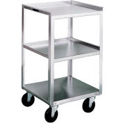 Lakeside® 469 Stainless Steel Mobile Equipment Stand, 3 Shelves 500 Lb. Cap.