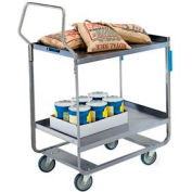 Lakeside® 4710 HD Handler Stainless Steel 2 Shelf Cart 30 x 16 x 46 700 Lb Cap