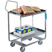 Lakeside® 4710 HD Handler Stainless Steel 2 Shelf Cart 30 x 16 x 46 700 Lb Cap