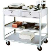 Lakeside® 474 Stainless Steel Equipment Stand, 3 Shelves, 2 Drawer, 500 Lb. Cap.
