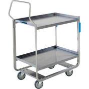 Lakeside® 4958 Tough Transport Stainless 2 Shelf Cart 55 x 22 x 39 1000 Lb Cap