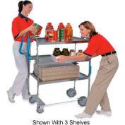 Lakeside® 5910 NSF HD Ergo-One 2 Shelf Cart 35-3/8 x 18-5/8 x 46-3/4 700 Lb Cap