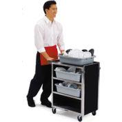 Lakeside® 615, 4 Shelf, Stainless Steel Bussing Cart - Walnut